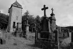 Oude ernstige werf in België stock foto's