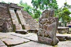 Oude erotische sukuh-Hindoese Tempel Candi op Java, Indonesië Royalty-vrije Stock Afbeeldingen