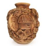 Oude etnische ceramische vaas Stock Afbeeldingen
