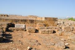 Oude Etruscan-stad van vulci stock afbeelding