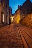 Oude Europese straat Royalty-vrije Stock Foto