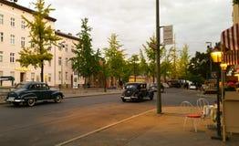 Oude Europese Straatscène in Berlijn Royalty-vrije Stock Foto's
