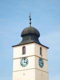Oude Europese Torenarchitectuur Sibiu Stock Afbeelding