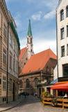 Oude Evangelische Lutheran Kerk van St John Riga, Letland Stock Foto's