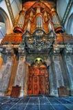 oude för amsterdam kerkorgan royaltyfri foto