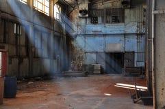 Oude fabriek Stock Afbeeldingen
