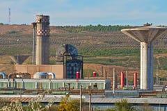 Oude fabriek Stock Foto's