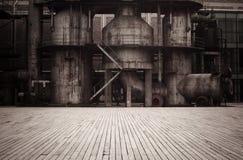 Oude fabriek royalty-vrije stock foto
