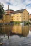 Oude fabriek. Industrieel landschap. Norrkoping. Zweden Royalty-vrije Stock Afbeeldingen