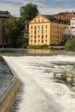 Oude fabriek. Industrieel landschap. Norrkoping. Zweden Royalty-vrije Stock Foto's