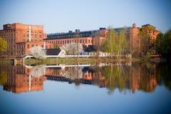 Oude fabriek in Lodz Polen Stock Foto's
