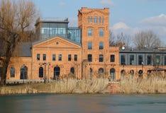 Oude fabriek Ludwik Grohman Royalty-vrije Stock Foto's