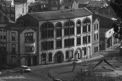 Oude fabriek in Manresa, Catalonië stock afbeelding