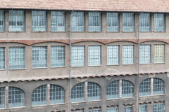 Oude fabriek of pakhuis externe muur Stock Foto