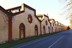 Oude fabrieksruïne in trezzo Stock Foto's
