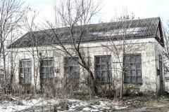 Oude fabrieksruïnes Stock Afbeelding