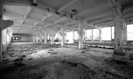 Oude fabriekszaal Royalty-vrije Stock Foto's