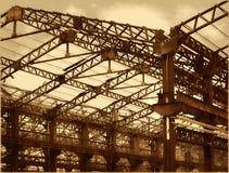 Oude Fabriekszalen in Bederf royalty-vrije stock afbeeldingen