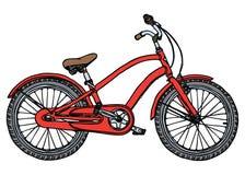 Oude fiets - gestileerde vectorillustratie Stock Fotografie