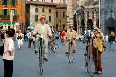 Oude fietsen Stock Foto's