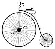 Oude fietsillustratie Stock Afbeeldingen
