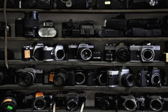 Oude filmcamera's Stock Foto