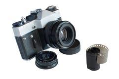 Oude filmcamera's retro royalty-vrije stock fotografie