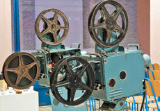 Oude filmprojectors Stock Foto's