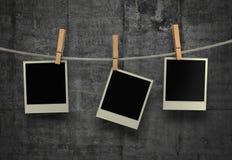 Oude Filmspaties die op een Kabel hangen stock fotografie