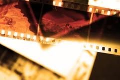 Oude filmstrook en foto'sachtergrond Royalty-vrije Stock Afbeeldingen