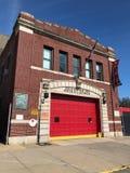 Oude Firehouse van Brooklyn royalty-vrije stock afbeelding