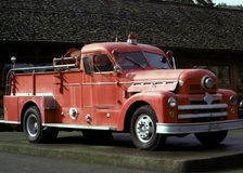 Oude Firetruck Royalty-vrije Stock Foto's