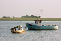 Oude Fishingboats Stock Fotografie