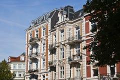 Oude flatgebouwen Royalty-vrije Stock Foto's