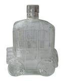 Oude fles in de vorm van een auto Stock Fotografie