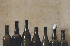 Oude flessen Stock Foto