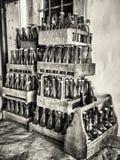 Oude flessen Royalty-vrije Stock Afbeeldingen