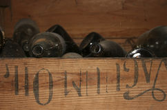 Oude flessen Stock Fotografie