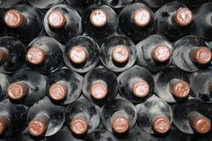 Oude flessen van wijnstok Stock Fotografie