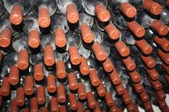 Oude flessen van wijnstok Royalty-vrije Stock Afbeeldingen