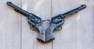 Oude flintlock pistolen royalty-vrije stock fotografie
