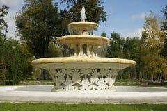 Oude fontain in het de herfstpark Royalty-vrije Stock Afbeeldingen