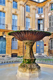 Oude fontein in Aix-en-Provence, Frankrijk royalty-vrije stock afbeelding