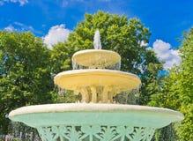Oude Fontein in het Park van Gorky, Moskou Stock Afbeelding