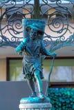 Oude fontein met een menselijk cijfer van een water-drager, Zürich, Swit Royalty-vrije Stock Foto