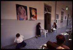 1992 Oude foto aan Psychiatic-het Ziekenhuis Stock Fotografie