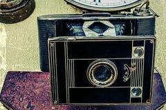 Oude foto met oude fotocamera 3 Royalty-vrije Stock Afbeelding