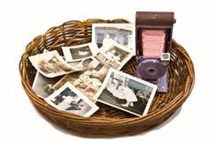 Oude Foto's en Camera royalty-vrije stock foto