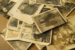 Oude foto's van de oorlog Stock Afbeelding