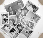 Oude Foto's in Zwart-wit Stock Afbeelding
